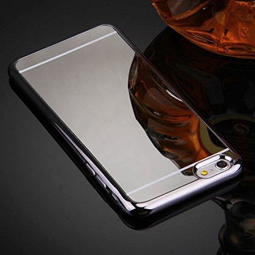 Phone Taschen & Schalen Für iPhone 6 Plus & 6s Plus Galvanik Spiegel TPU Schutzhülle Fall ( Color : Grey )
