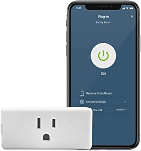 Leviton D215P-2RW Decora Smart Wi-Fi Mini Plug-In Switch (2nd Gen), Works with Hey Google, Alexa, Apple HomeKit/Siri, and Anywhere Companions, No Hub Required , White