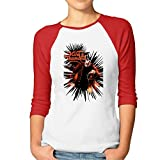 Ladies King Diamond 3/4 Sleeve Baseball Tshirt Raglan Jersey Shirt