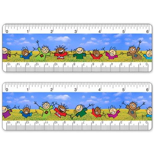 - Animated 6 Inch Lenticular Ruler Bookmark Children Dancing in Field