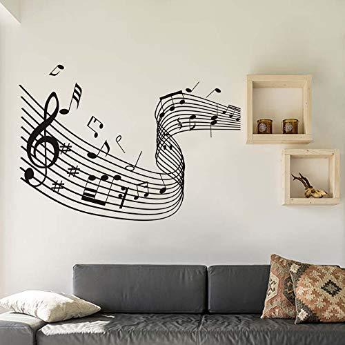 Música Arte Quaver Palabra Dance Notas Musicales Ola Pegatinas de ...