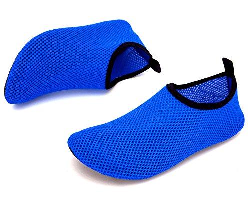 Giotto Barefoot Water Shoes Yoga Beach Swim Aqua Shoes For Women Men Mesh/Dark Blue mA6IgL838q