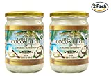 Organic Coconut Oil, 2 Pack of 16.91 oz, Extra Virgin Unrefined Cold-Pressed for Cooking, Hair and Skin Lotion