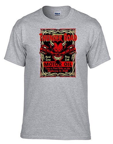 Rockabilly V8 Hot Rod Biker T-Shirt Garage Kustom Speed Shop Tuning Racing-339-Grau