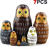 Owl Nesting Dolls - Owl Decor - Owl Gifts - Owl Toy - Matryoshka set 7 dolls