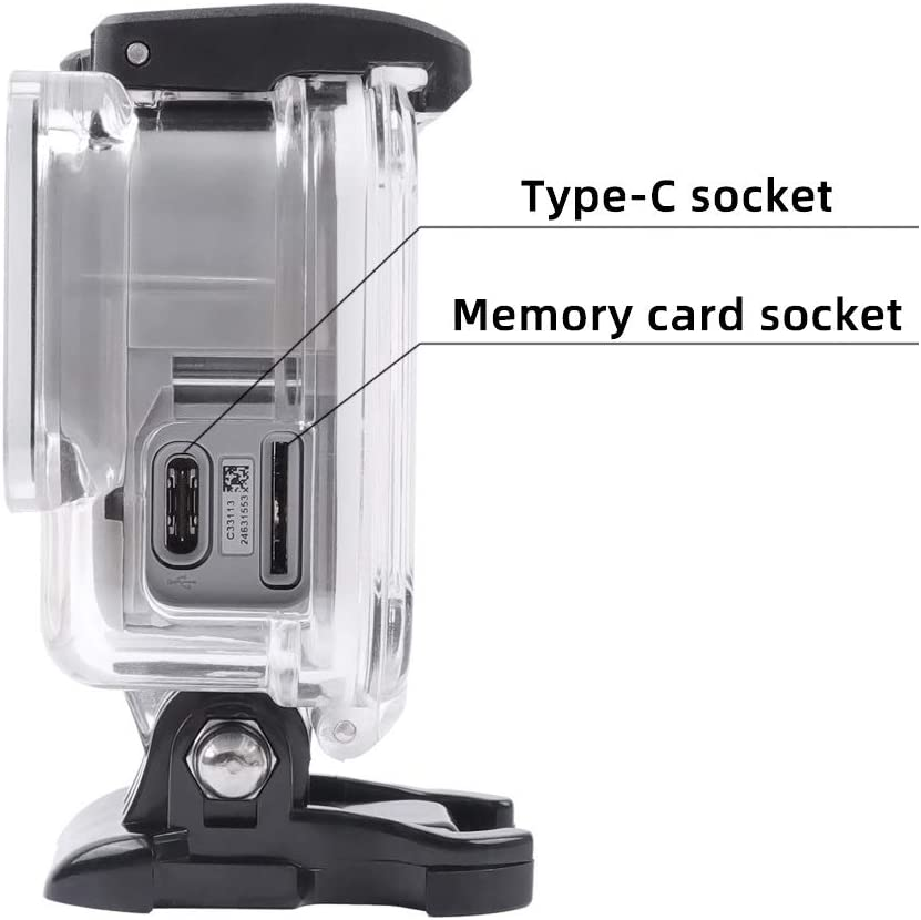 Transparent Durable CAOMING for GoPro HERO7 White//Silver Skeleton Housing Side Hollow Protective Case with Buckle Basic Mount /& Screw Color : Transparent
