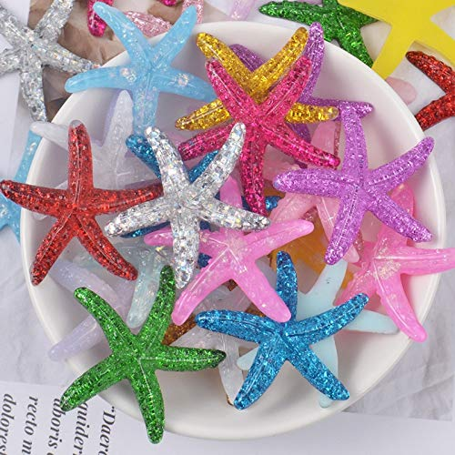 Slime charms 5pcs Starfish Charms for Slime Polymer Filler Addition Slime Accessories Toys Powder Modeling Clay Kit for Children 1