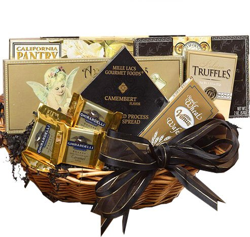 Art of Appreciation Gift Baskets With Heartfelt Sympathy Gift Basket, Small (Chocolate)