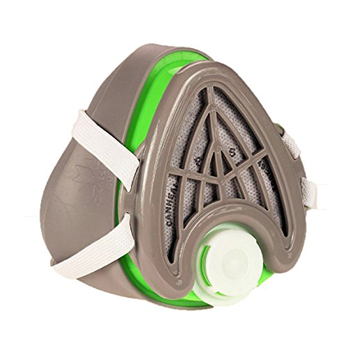 CANHEAL-Dust-Mask-Washable-and-Reusable-4-Active-Carbon-Filters-Included-Multi-Purpose-Particulate-Respirator-Small-Medium-GrayGreen