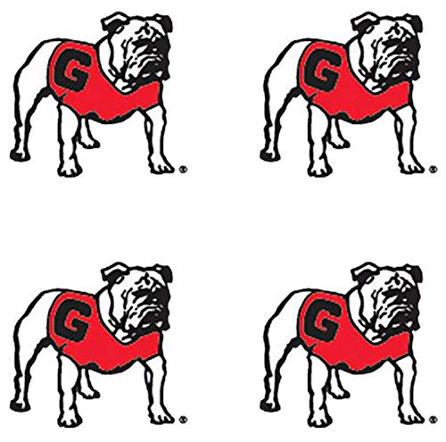 (NCAA Georgia Bulldogs 4-Pack Temporary Waterless Uga Mascot Tattoos )