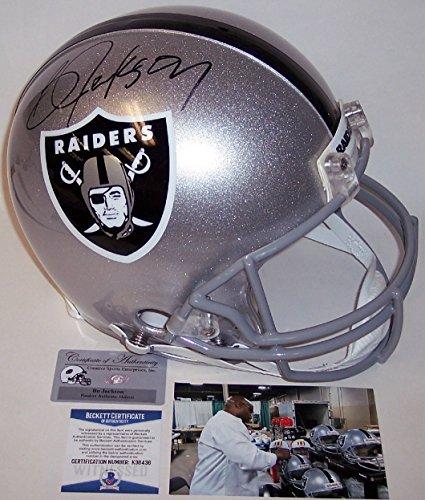 Bo Jackson - Autographed Official Full Size Riddell Authentic Proline Football Helmet - Oakland Raiders - BAS - Bo Helmet Jackson Autographed