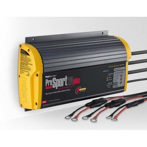 ProMariner ProSport 20 Plus Gen 3 Heavy Duty Recreational Series On-Board Marine Battery Charger - 20 Amp - 3 Bank ()