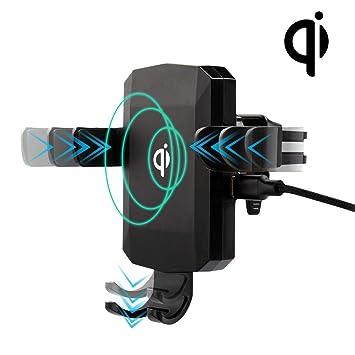 MyNetDeals Qi - Cargador inalámbrico y Soporte para teléfono ...