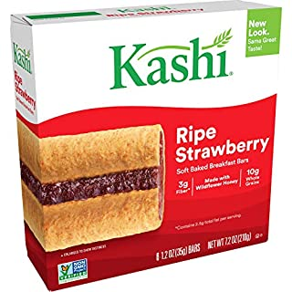 Kashi, Soft-Baked Breakfast Bars, RipeStrawberry, Non-GMO Project Verified, 7.2 oz, 6 Count(Pack of 8)