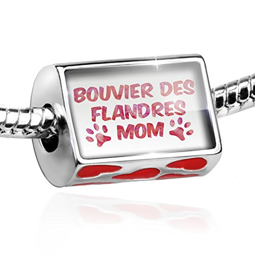 Bead Dog & Cat Mom Bouvier des Flandres Charm with hearts by NEONBLOND ()