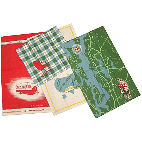Moda Home Great Outdoors Towel Set of 4 (Towels Kitchen Retro)