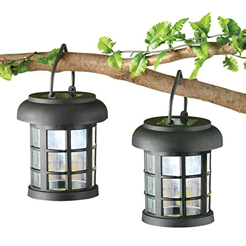 Solar Led Garden Lanterns Black