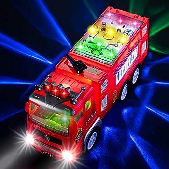 Amazon.com: Fuego Eléctrico Camión juguetes, luces y sonidos ...