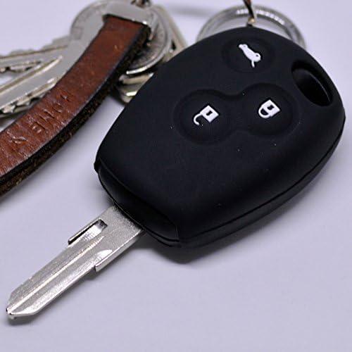 Soft Case Estuche Protector para Llaves de Auto Dacia DOKKER SANDERO Duster Logo LODGY Renault Clio TWINGO 3 Botones/Color Negro: Amazon.es: Electrónica