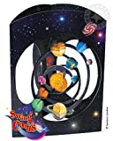 Deluxe Girls & Boys Birthday Card Solar System Planets Space 3D Swing Pop Up Greeting Card