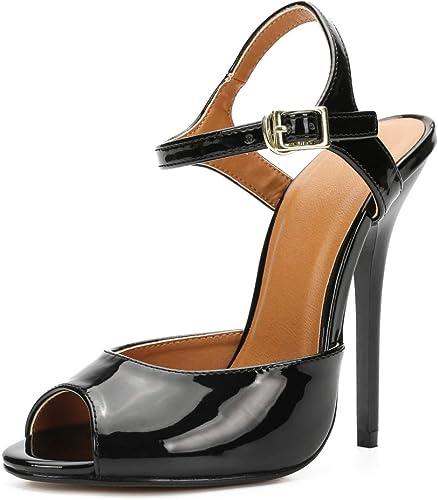 cheapest unique design best supplier MAIERNISI JESSI Unisex Men's Women's Stiletto High Heel Ankle Strap  Slingback Sandals