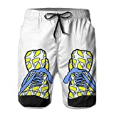Macevoy Funny Shoe Men's Beach Casual Running Workout Gym Shorts For Summer