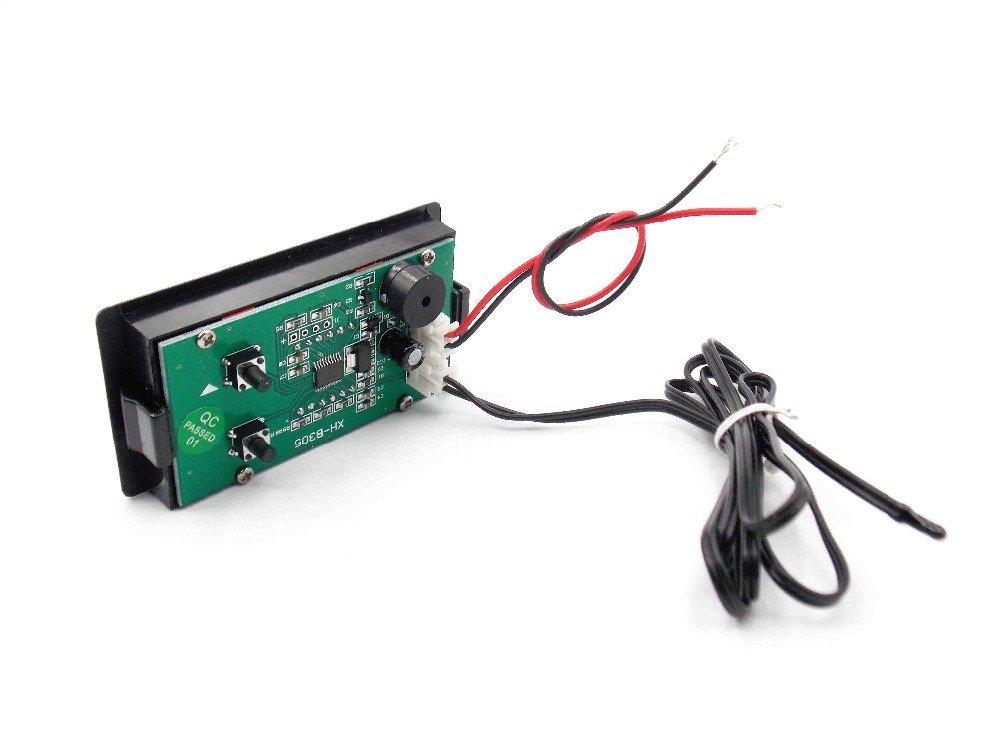 Diybigworld XH-B305 Digital Thermometer DC12V Meter high Temperature Alarm 60~125 Precision Temperature Measurement