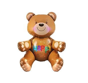 Repair Media de Shop RM ☆ Globo Globo de aire Helium Fiesta Cumpleaños marrón OSO DE