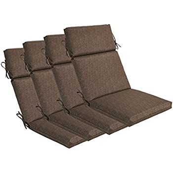 This Item Bossima Indoor/Outdoor Coffee High Back Chair Cushion, Set Of  4.Spring/Summer Seasonal Replacement Cushions.
