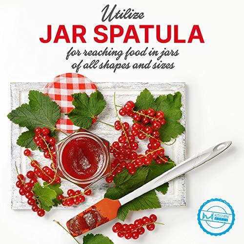M KITCHEN WORLD Heat Resistant Silicone Spatulas Set  Rubber Spatula Kitchen Utensils NonStick for