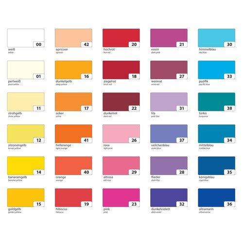 Folia Tonpapier 130g/m², DIN A3, 50 Blatt, 10 Farben sortiert