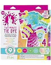 Tulip One-Step Tie-Dye Kit Fast & Easy Fabric Designs in 2 Minutes Includes Microwavable Containers & Techniques, 4 Vibrant Colors, Tropical Fruit Punch