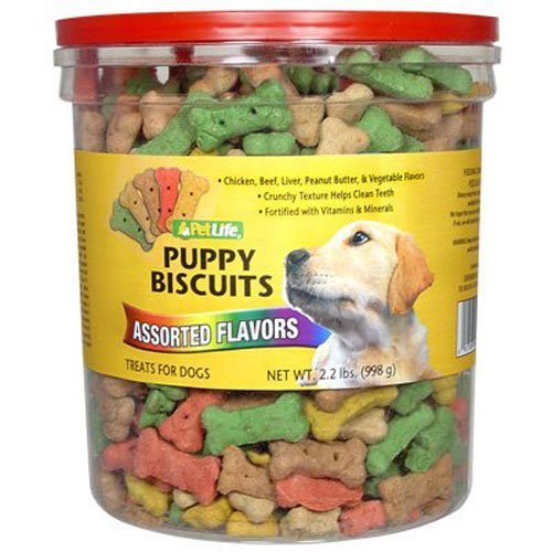 Pet Life 2.2Lb Oven Baked Multi Flavored Puppy Biscuits