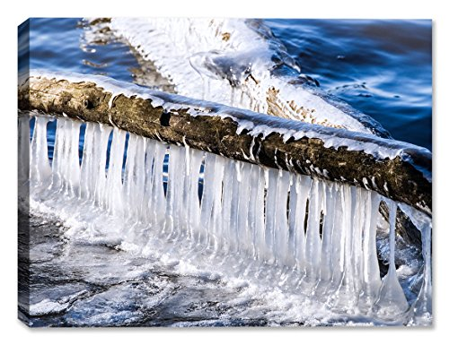 Logs and Ice -Outdoor Wall Art - Weatherprint - Weatherproof Art for Indoor or Outdoor Canvas - Ice Darby