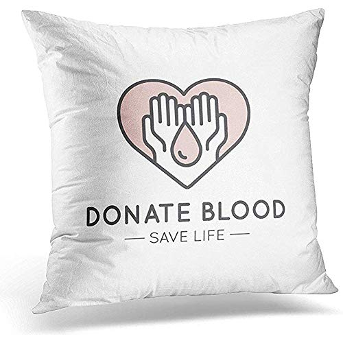 Johnnie Decorative Pillow Cover Graphic for Nonprofit Organizations and Donation Centre Fundraising Symbols Crowdfunding Project Label Throw Pillow Case Square Home Decor Pillowcase 18x18 Inches (Best Crowdfunding For Nonprofits)