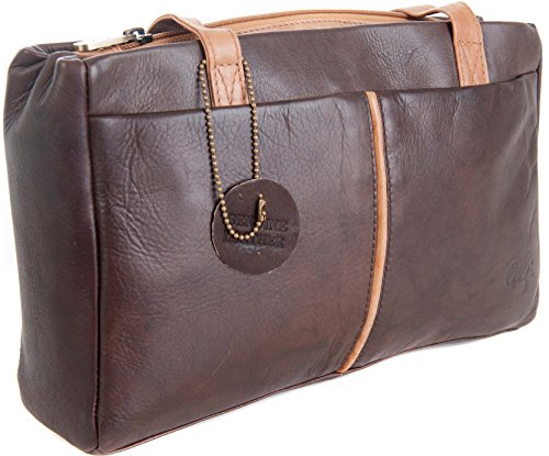Gigi - Bolso al hombro para mujer Dark Brown & Honey small Dark Brown & Honey