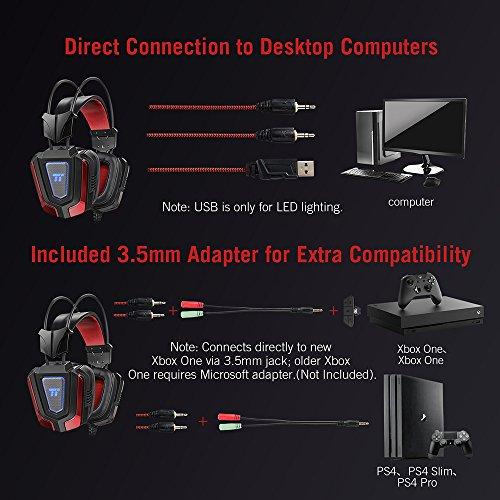 51n6CHVViUL - TaoTronics Gaming Headset