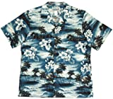 Midnight High Surf Men's Hawaiian Aloha Cotton Shirt