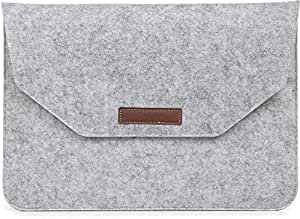 Grey Color Felt Laptop Sleeve Case Cover Bag For Apple Macbook Air 11 11.6 Inch