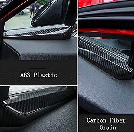 Yueng ABS Front Door Interno A Pillar Decoration Cover Trim per CHR 2016-2018 2-Pack