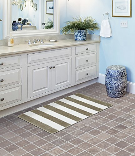 (Garland Rug Beach Stripe Bath Rug, 21