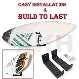 XKH- Surfboard/Wakeboard / Kiteboard/Ski Board Storage Wall Hanger Rack Organizer