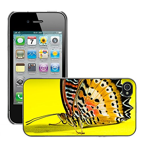 Bild Hart Handy Schwarz Schutz Case Cover Schale Etui // M00134419 Schmetterlings Insekten // Apple iPhone 4 4S 4G