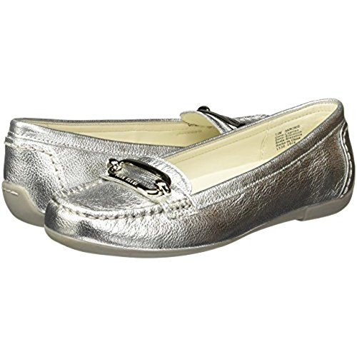 oris Leather, Silver, 7.5 M US (Anne Klein Loafers)