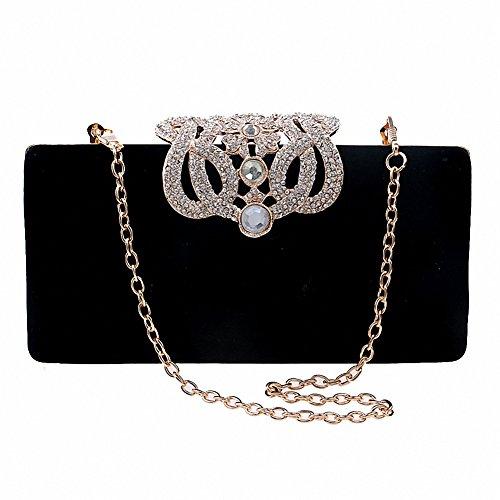black evening purse crystal - 1