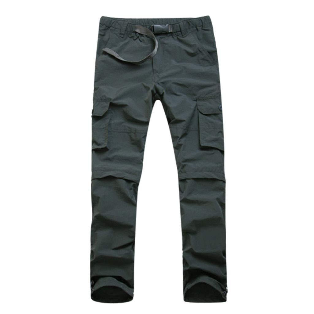 LOVOZO Men's Sports Clothing Gym Jogger Pants Training Workout Slim fit Sweatpants Causal Leg Zipper Gray by LOVOZO