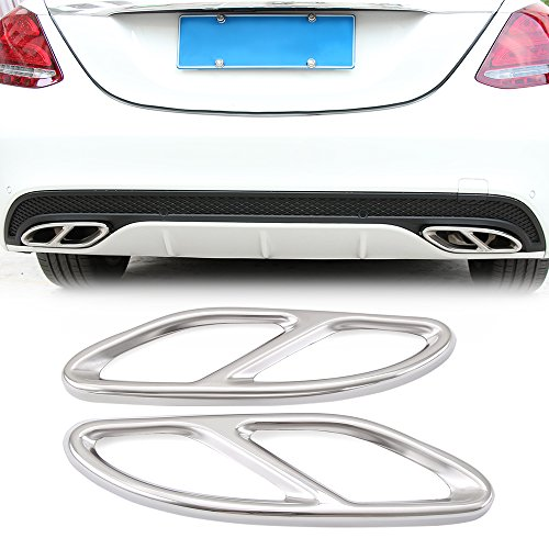Car Accessory Exhaust Cover Outputs Tail Frame Trim For Mercedes Benz AMG GLC A B E C Class W205 Coupe W213 W176 W246 2015-2017