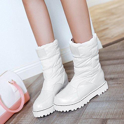 Latasa Kvinna Dra På Lägenheter Med Hög Topp Slouch Boots Vita