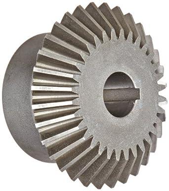 Boston Gear HLK Series Miter Gear, 1:1 Ratio, 20 Degree Pressure Angle, Straight Miter, Keyway, Steel with Hardened Teeth