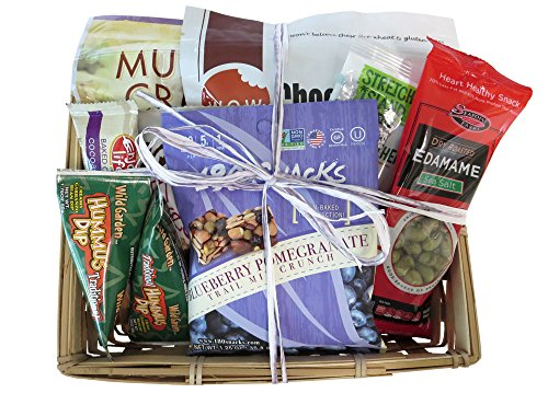 Great Gifts Baskets Gluten-Free Picnic: Hummus, Crackers, Chocolate Chip Cookies, Snacks all GF (Non Food Gift Baskets)